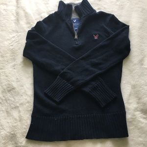 American Eagle Zip Front Sweater